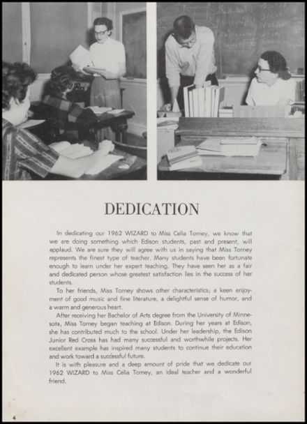 1962 Edison High School Yearbook Page 8