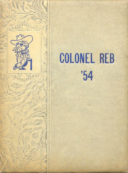 1954 Natchez High School Yearbook Cover