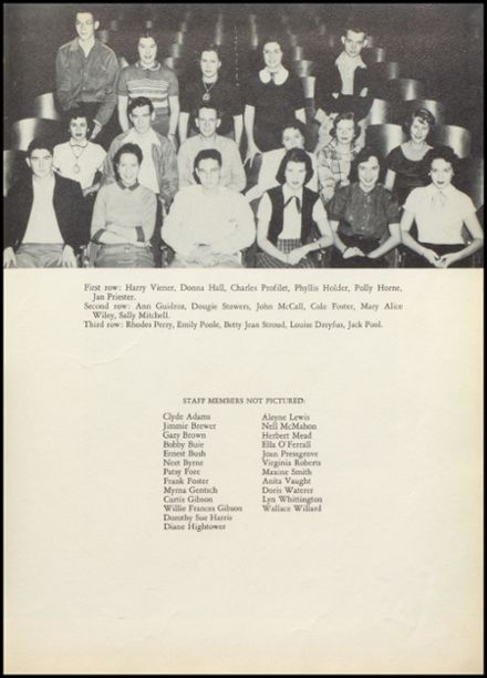1954 Natchez High School Yearbook Page 7