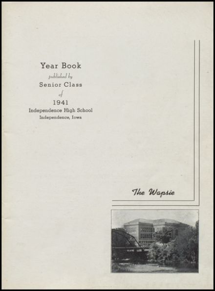 1941 Independence Christian High School Yearbook Page 3
