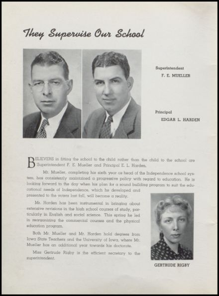 1941 Independence Christian High School Yearbook Page 6