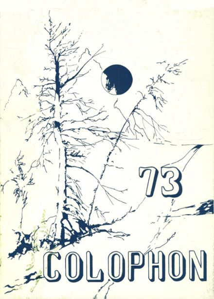1973 Wyomissing Area High School Yearbook Cover
