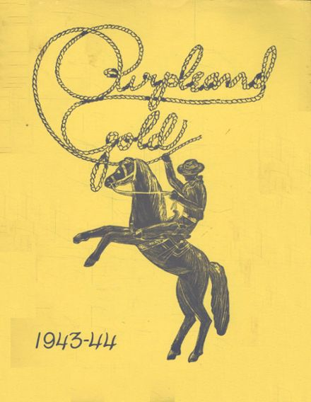 1944 Culbertson High School Yearbook Cover