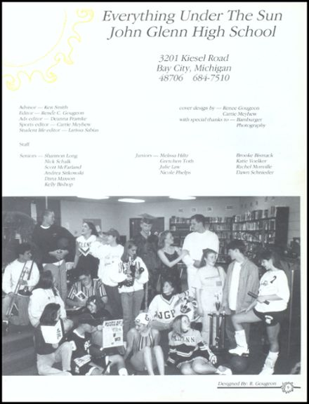 1996 John Glenn High School Yearbook Page 5