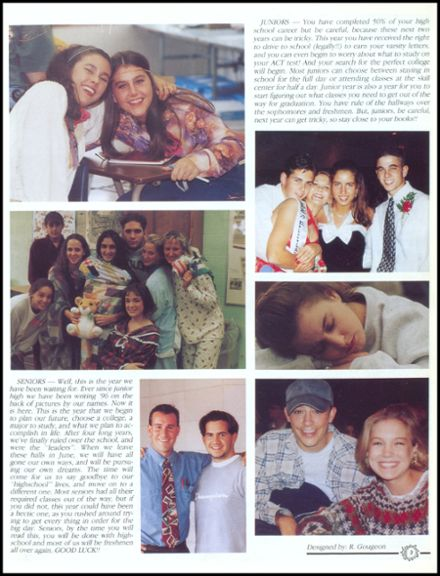 1996 John Glenn High School Yearbook Page 7