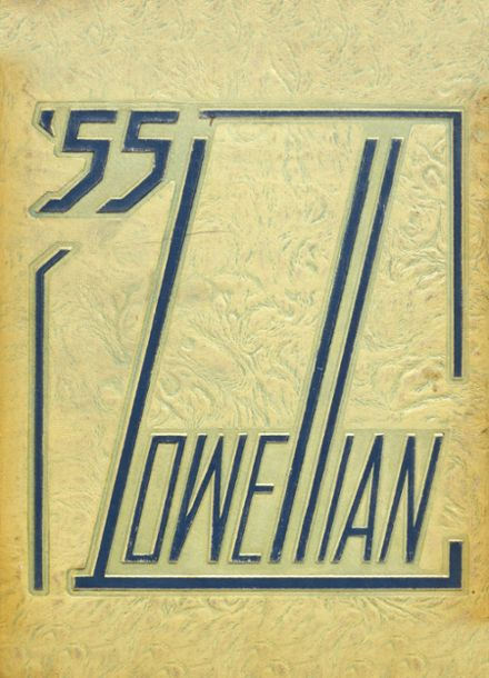1955 Lowell High School Yearbook Cover