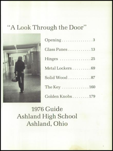 1976 Ashland High School Yearbook Page 5