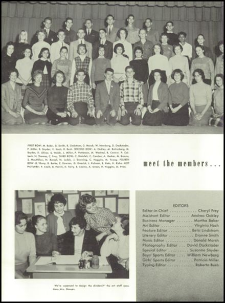 1961 Delaware Township High School Yearbook Page 8