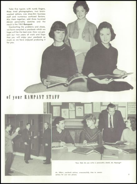 1961 Delaware Township High School Yearbook Page 9