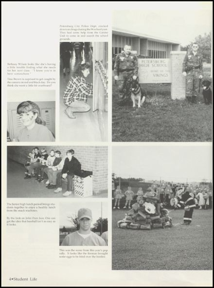 1996 Petersburg High School Yearbook Page 8