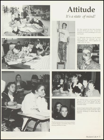 1996 Petersburg High School Yearbook Page 9