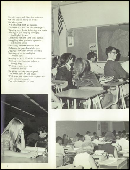 1969 Bedford High School Yearbook Page 8