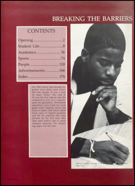 1981 Booker T. Washington High School Yearbook Page 6