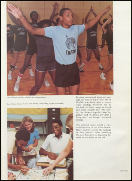 1981 Booker T. Washington High School Yearbook Page 9