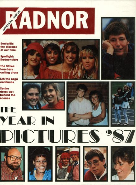 1987 Radnor High School Yearbook Cover