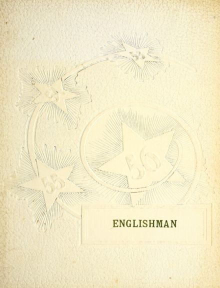 1956 English High School Yearbook Cover