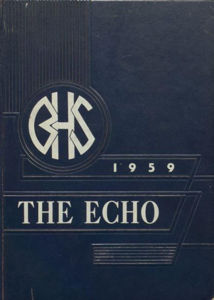 1959 Bland High School Yearbook Cover