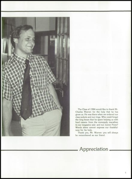 1984 York Central High School Yearbook Page 9