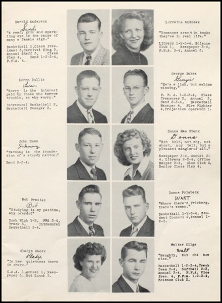 1948 Rib Lake High School Yearbook Page 9
