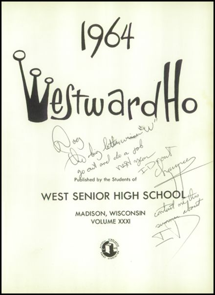 1964 West High School Yearbook Page 5
