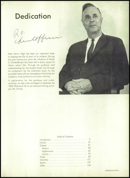 1964 West High School Yearbook Page 7