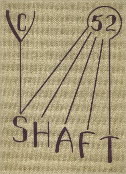 1952 York Central High School Yearbook Cover