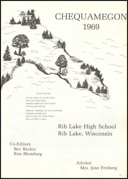 1969 Rib Lake High School Yearbook Page 5
