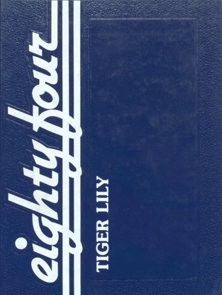 1984 Port Allegany High School Yearbook Cover