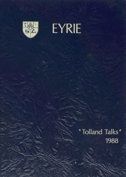 1988 Tolland High School Yearbook Cover
