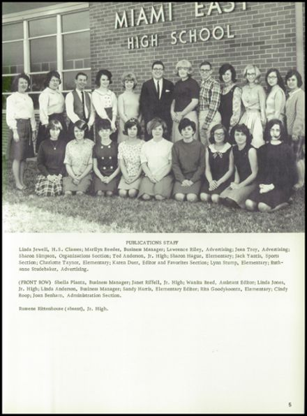 1966 Miami East High School Yearbook Page 9
