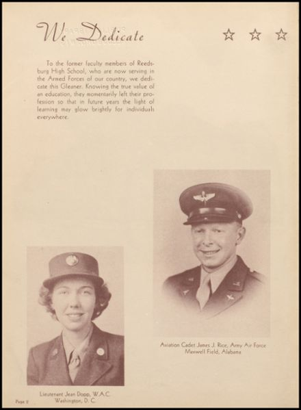 1944 Reedsburg High School Yearbook Page 6