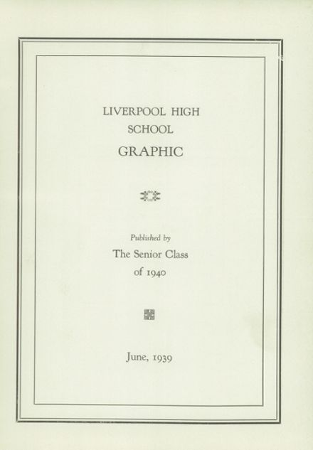 1939 Liverpool High School Yearbook Page 3