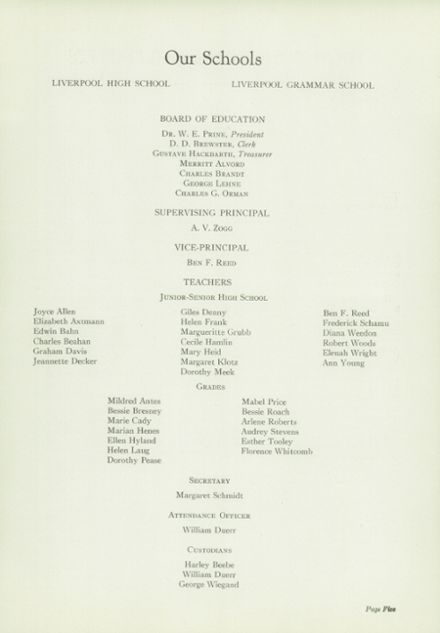 1939 Liverpool High School Yearbook Page 7