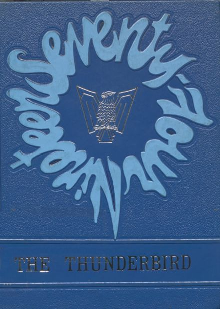 1974 Cross County High School Yearbook Cover