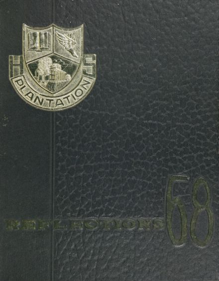 1968 Plantation High School Yearbook Cover