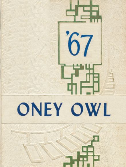 1967 Binger-Oney High School Yearbook Cover