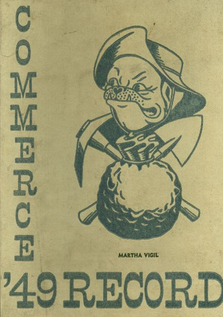 1949 Commerce High School Yearbook Cover