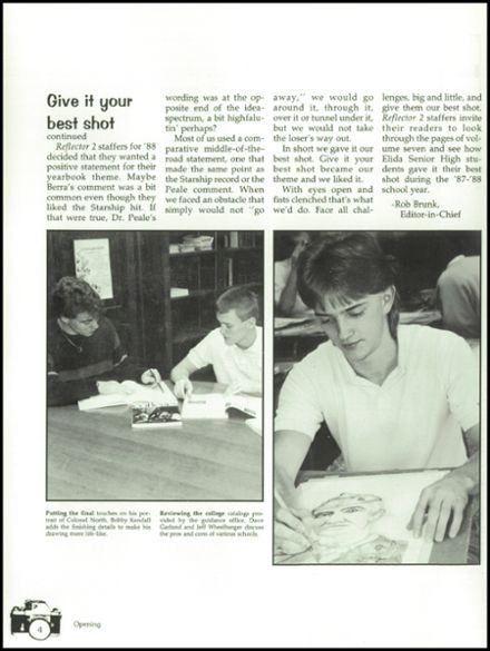 1988 Elida High School Yearbook Page 8
