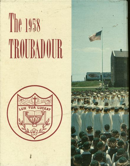1958 Catholic High School of Baltimore Yearbook Cover