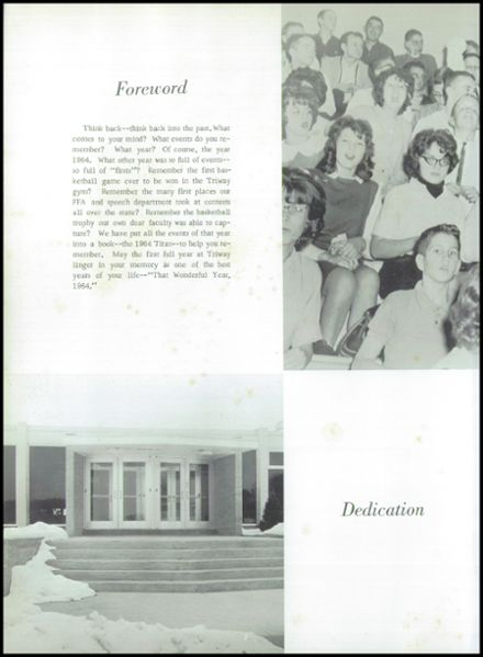 1964 Triway High School Yearbook Page 6