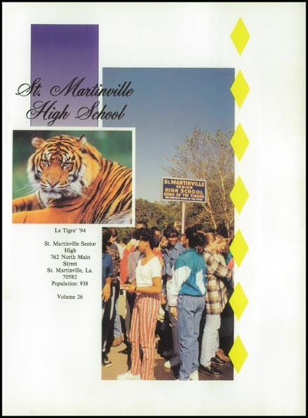 1994 St. Martinville High School Yearbook Page 5