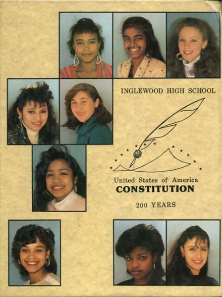 1988 Inglewood High School Yearbook Page 1