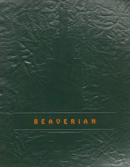 1939 Beaver River Central High School Yearbook Cover