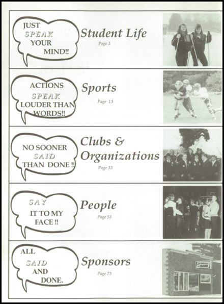 1996 Rosholt High School Yearbook Page 6