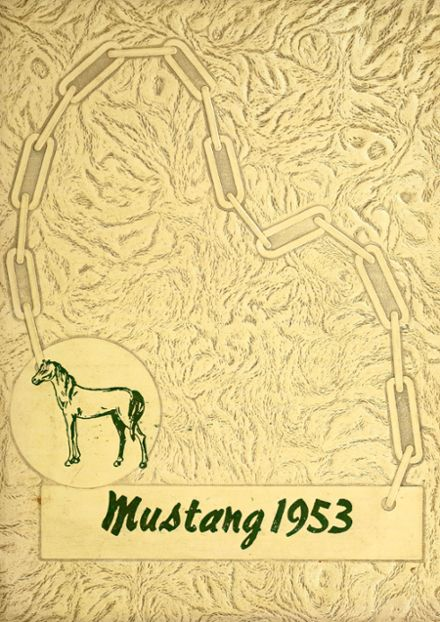 1953 Grapevine High School Yearbook Cover