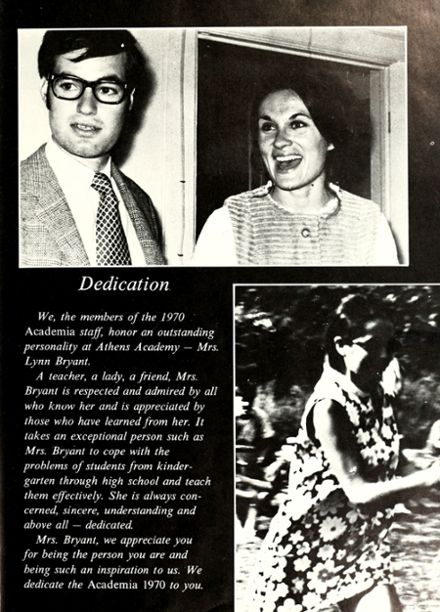 1970 Athens Academy Yearbook Page 7