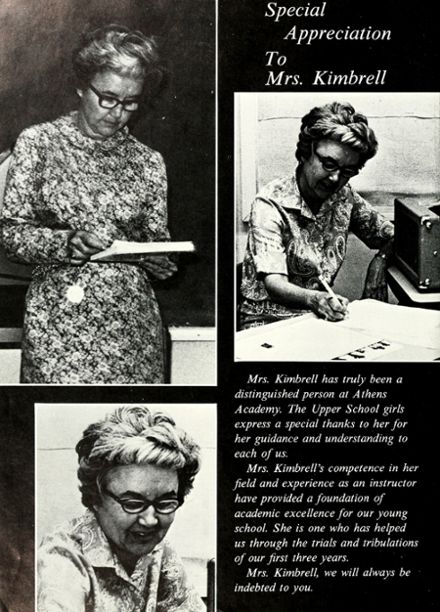 1970 Athens Academy Yearbook Page 8