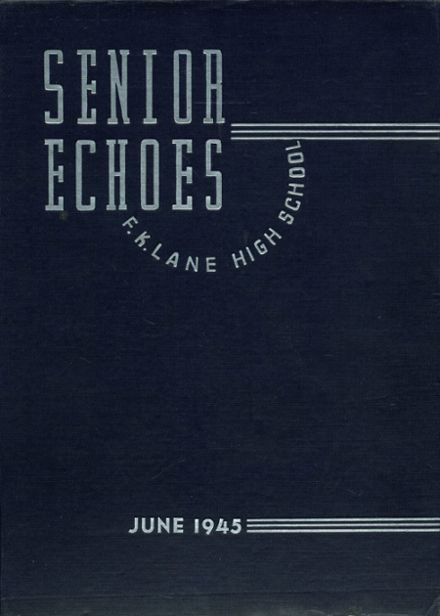 1945 Franklin K. Lane High School Yearbook Cover