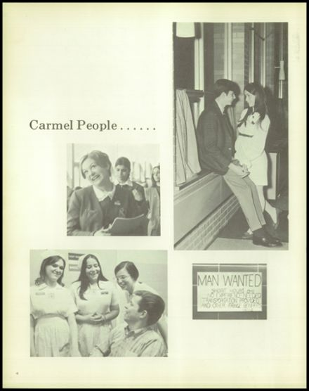 1969 Carmel High School Yearbook Page 8