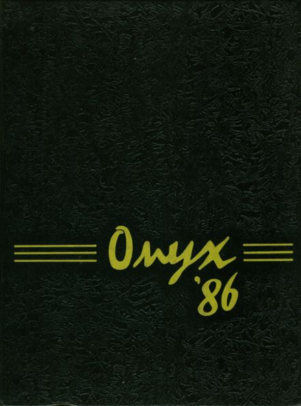 1986 West Milford High School Yearbook Cover